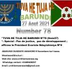 *TUVA HE TUJA HE BARUNDI Nº78 (9min57)*: Spécial : Pas de justice, pas de développement; affirme le Président Evariste Ndayishimiye Nº4
